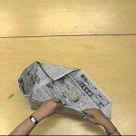 新聞紙エコバック作り方 No2